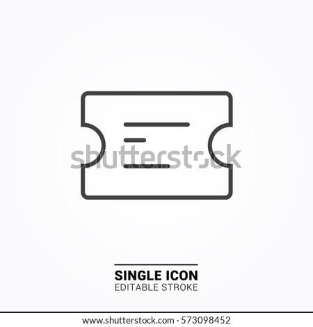 Icon ticket Single Icon Graphic Design