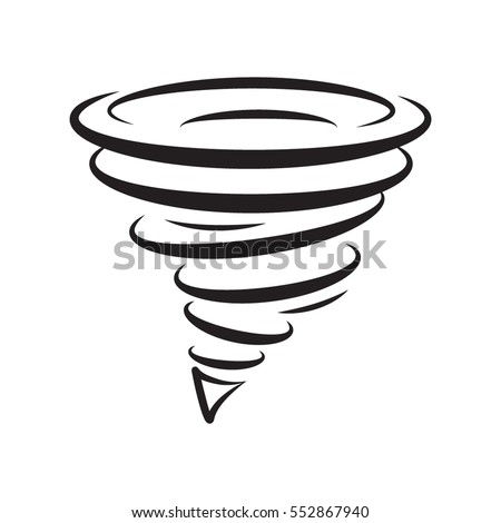 Icon tornadoes in the linear flat style. vector illustration isolate on a white background. easy to use