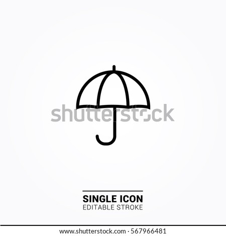 Icon umbrella single icon graphic designs