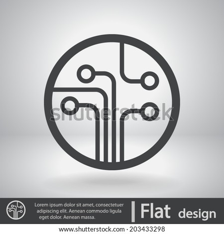 Icon, vector illustration. Flat design style