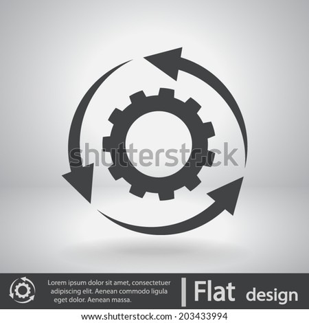 icon  vector illustration flat