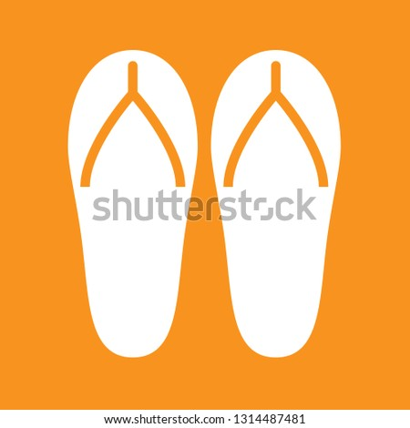 Icon vector illustration of a pair of sandals, EPS10.