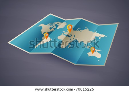 icon vector map of the world. eps10 with transparency