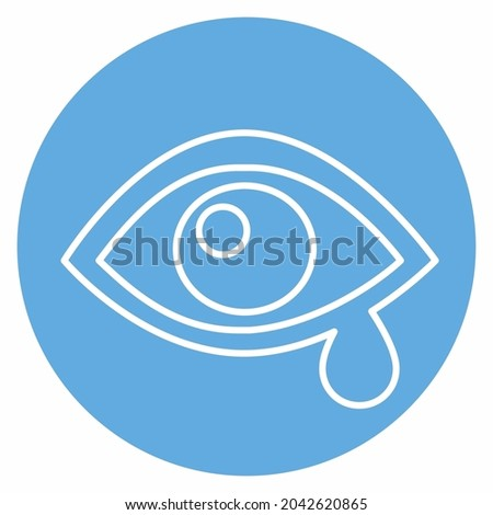 Icon Vector of Eye Exam n - Blue Eyes Style - Simple illustration, Editable stroke, Design template vector, Good for prints, posters, advertisements, announcements, info graphics, etc. Foto stock ©