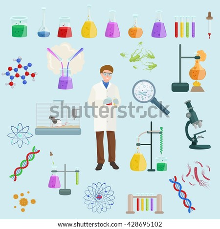 icon vector set science lab
