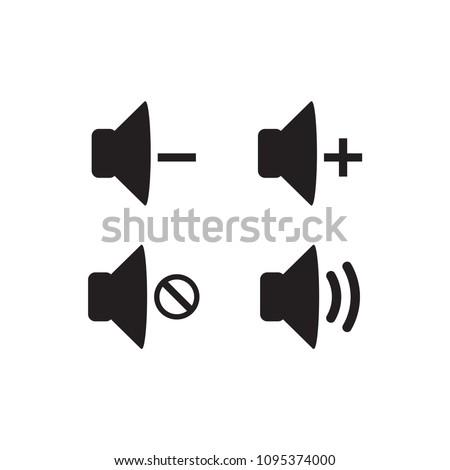icon volume vector