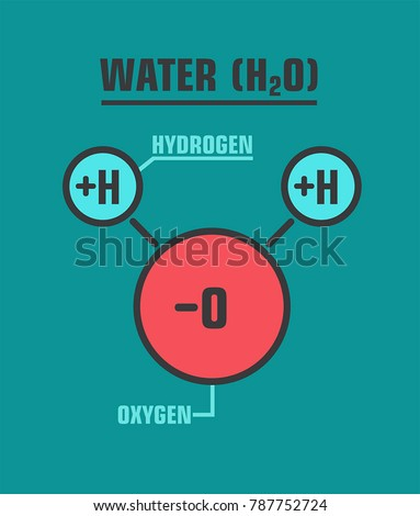 icon water molecule the