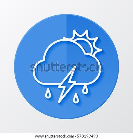 icon weather sun  cloud  rain