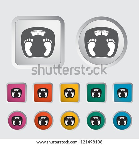 Icon weights. Vector illustration.