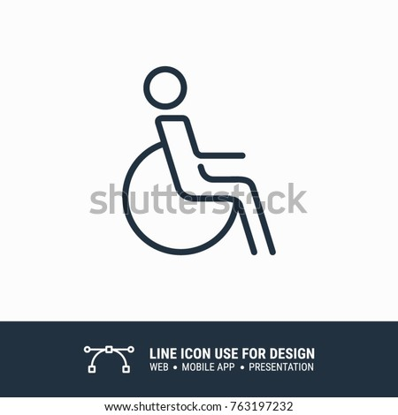 Icon Wheelchair Access free graphic design single icon vector illustration