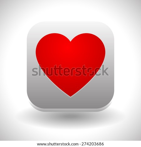 Icon with heart shape. Love, positive emotions, heart health, favorite concepts.