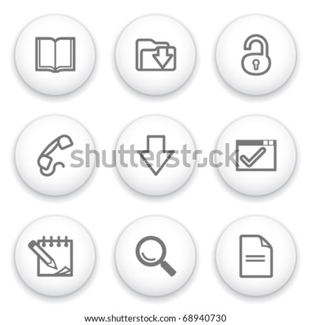 Icon with white button 6