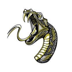 iconic snake head hand drawn illustration