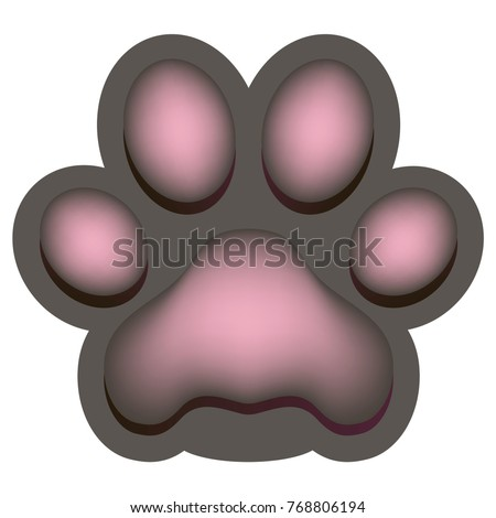 iconl of the pink paw of an
