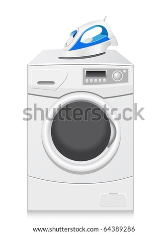 icons are a washing machine and