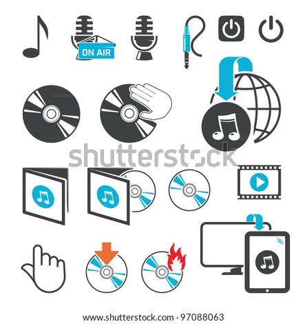 Icons, audio-video files
