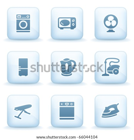Icons blue series 18 - stock vector