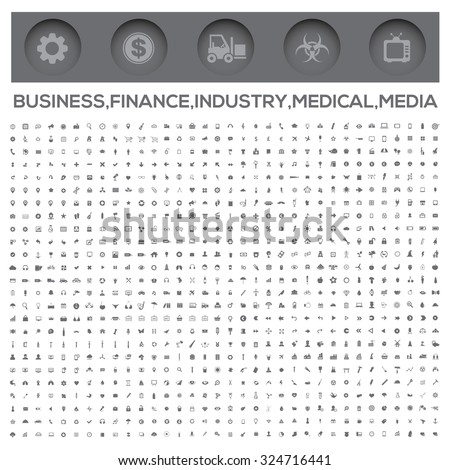Icons,Business,Money,Construction,Industry,Medical,Technology,Communication and web icons