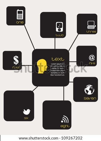 icons communications and business over white background