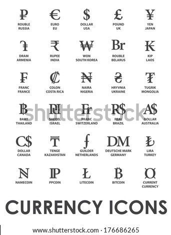 International Currency Symbols Vector 123freevectors