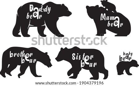icons,daddy bear,mama bear,brother bear,sister bear,baby bear