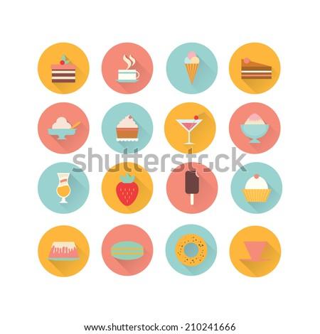 icons dessert