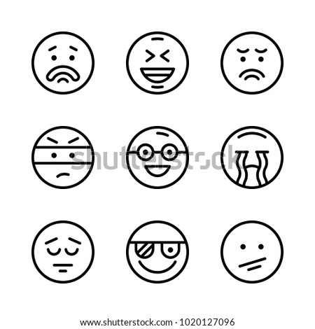 icons emoticons vector