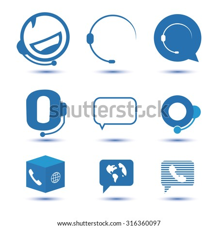 icons for call center or
