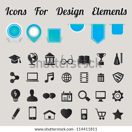 Icons For Design Elements - vector icons