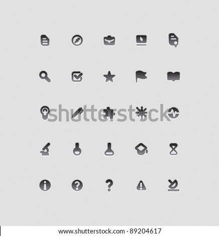 Icons for education, science and technology. Vector illustration.