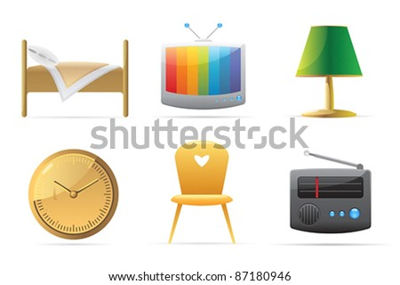 Icons for home. Vector illustration.