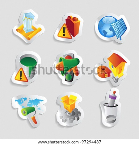 Icons for industry. Vector illustration.