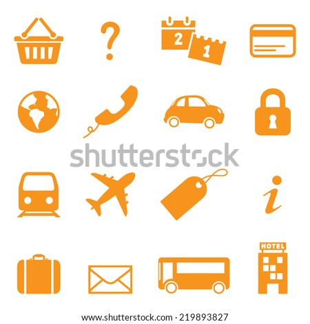 icons for online travel booking