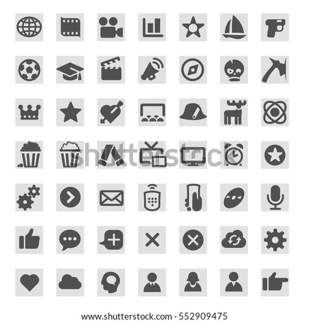 icons for tv programs on tv