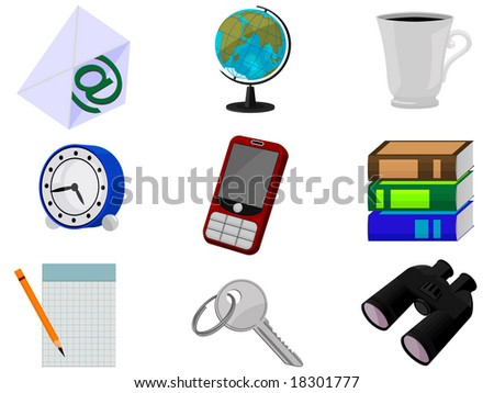 Icons for web design in a vector - stock vector