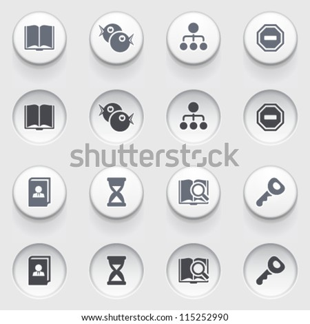 Icons for web on white buttons.