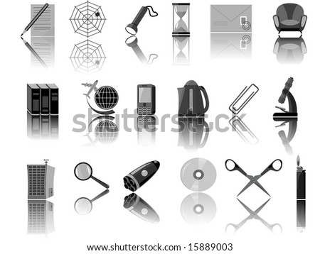 Icons for web the designer in a vector