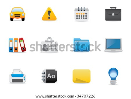 Icons for website or printed literature - editable vector illustrations