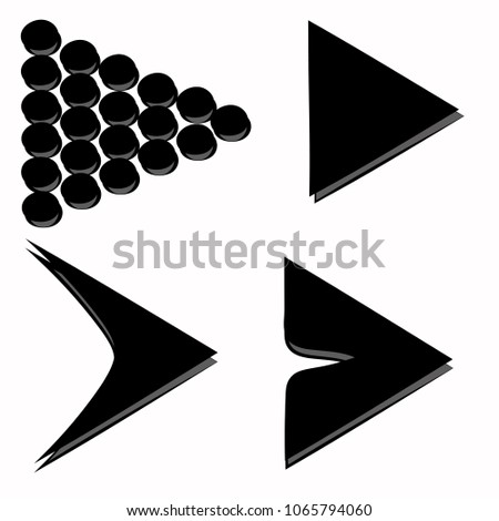 icons geometric arrows triangles black and gray #1065794060