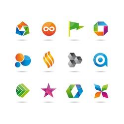 icons glossy set