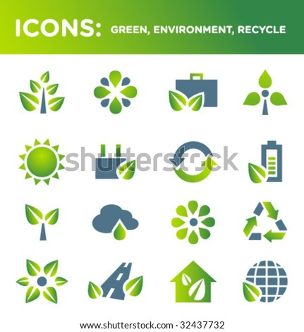 ICONS: green, environment, recycle (SET 2)