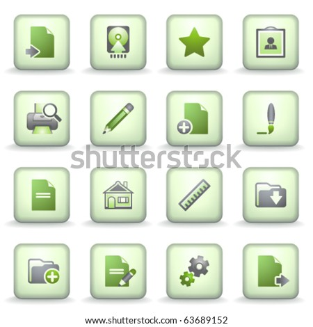 Icons green gray series 14