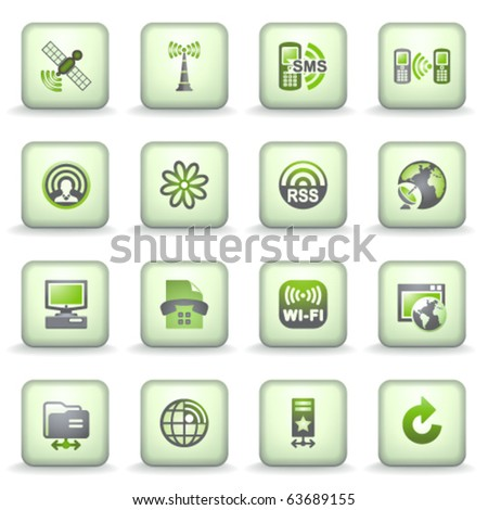 Icons green gray series 17
