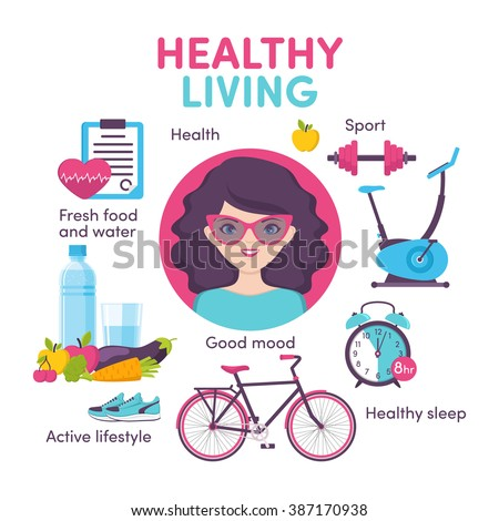 icons healthy living  sport