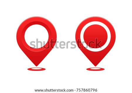 Icons location sign vector