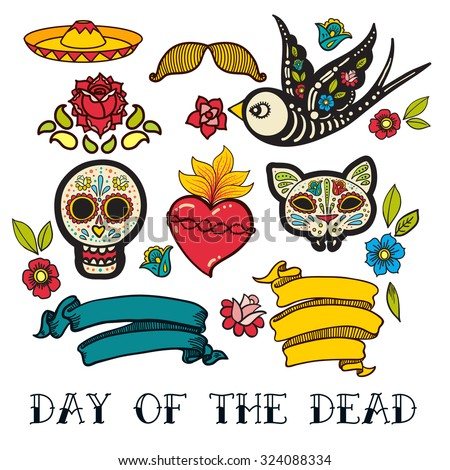 icons  of day of the dead  a