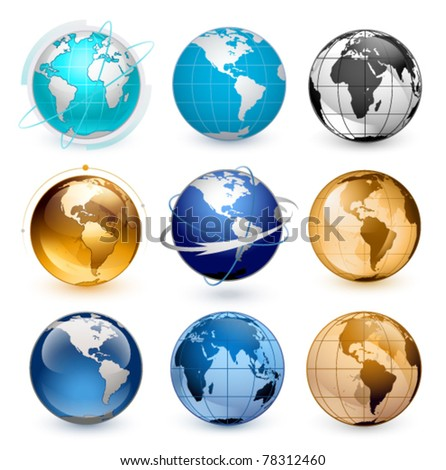 Pics Of Earth. stock vector : Icons of Earth