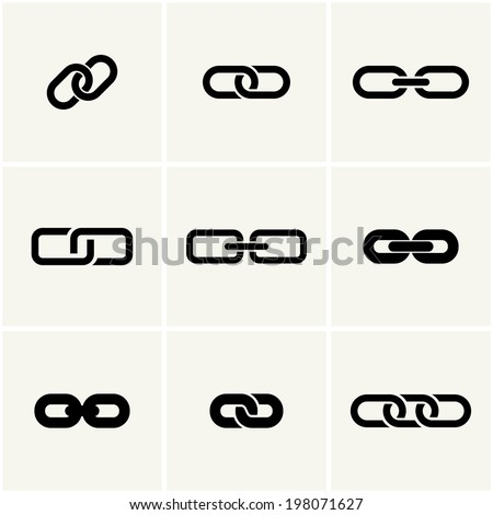 icons of link vector set eps8