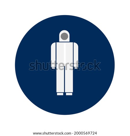 Icons of medical coverall gowns.  Stok fotoğraf ©
