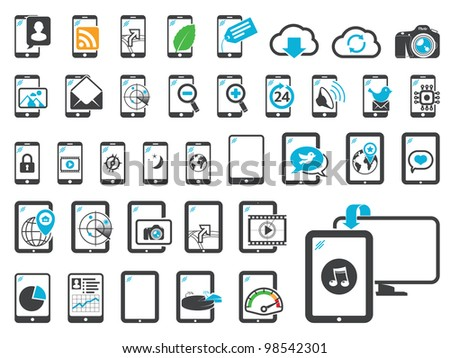 Icons of modern gadgets